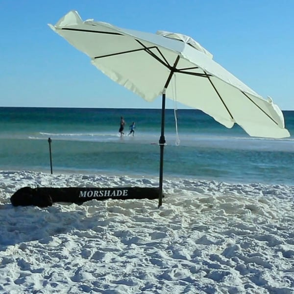 Morshade Portable 9 Foot Patio And Beach Umbrella With Wind Resistant Base