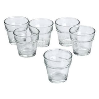 Clear Glass Flower Pot Votive Candle Holders (Set of 12)