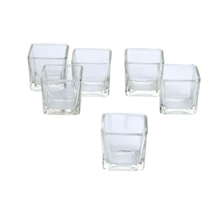 Clear Glass Square Votive Candle Holders (Pack of 12)