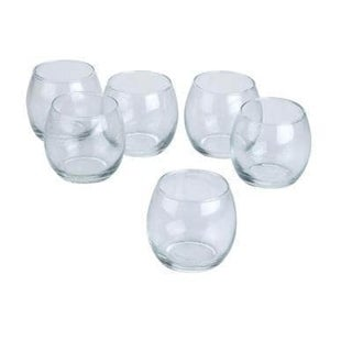 Clear Glass Hurricane Votive Candle Holders (Set of 12)