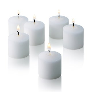 White Unscented Votive Candles Set of 12 Burn 10 Hours
