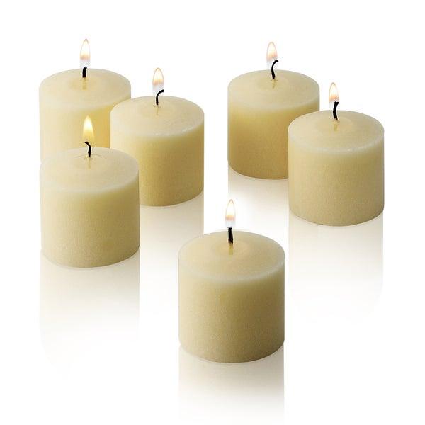 Ivory Unscented Votive Candles Set of 12 Burn10 Hours