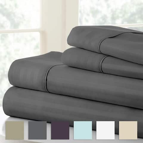 Merit Linens 4-piece Premium Ultra Soft Striped Design Bed Sheet Set