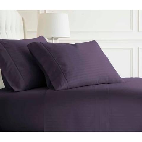 Merit Linens 4-piece Premium Ultra Soft Striped Design Bed Sheet Set