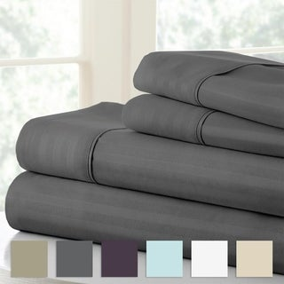 Merit Linens 4-piece Premium Ultra Soft Striped Design Bed Sheet Set (More options available)