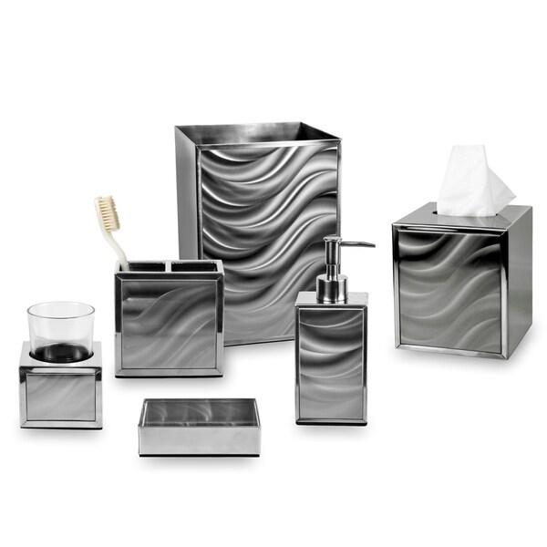 Bed Bath And Beyond Bath Accessories: Shop Moire Silver Bath Collection