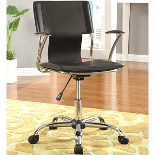 Chrome Modern Ergonomic Design Adjustable Height Black Office Chair