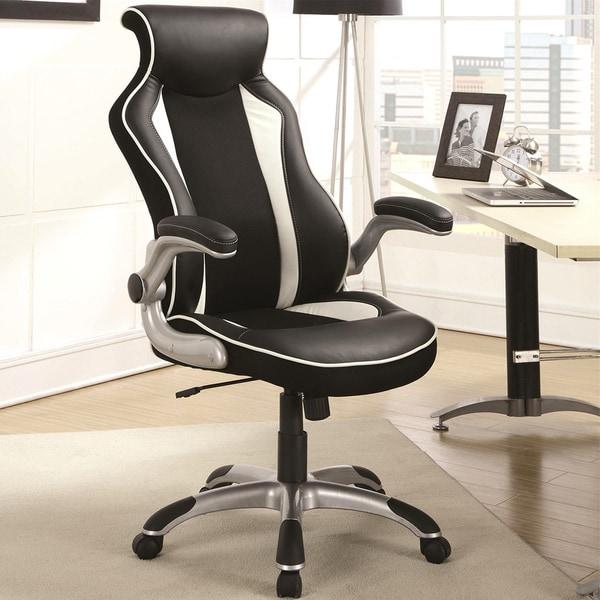 racer design black white ergonomic gaming office chair free