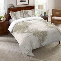 Shop tommy bahama map 3 piece quilt set free shipping today laural home world traveler comforter sale gumiabroncs Gallery