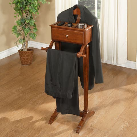 Cherry Finished Closet Valet - N/A