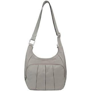 Travelon Anti-Theft Classic Pleated Hobo Handbag