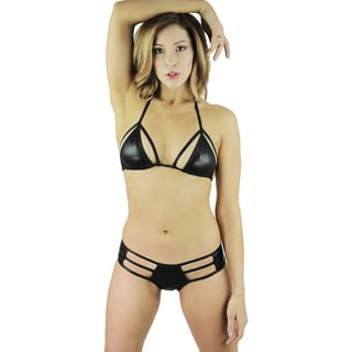 Women's Metallic Cut-out 2-piece Bikini Swimsuit (One Size)