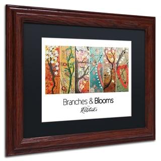 Jennifer Redstreake 'Branches and Blooms' Matted Framed Art