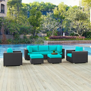 Gather Synthetic Rattan Outdoor Patio Sectional Set (7 Piece Set)
