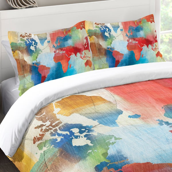 Laural home colorful world map standard pillow sham free shipping laural home colorful world map standard pillow sham gumiabroncs Gallery