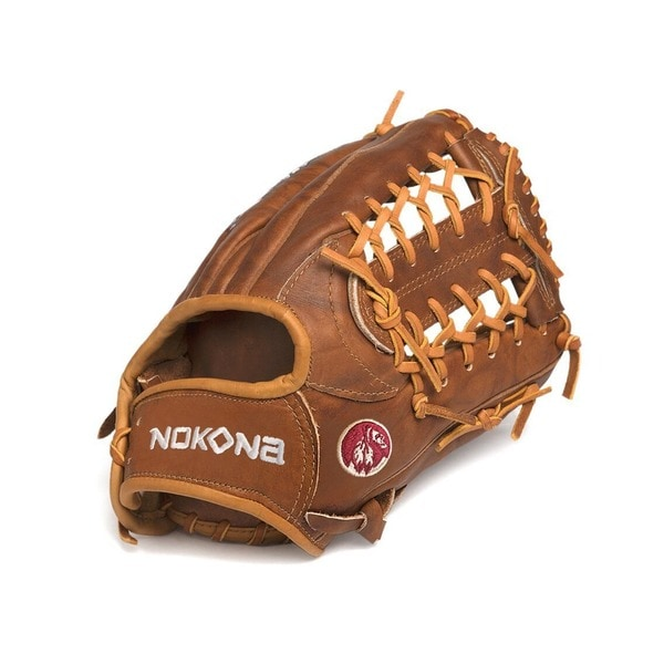 Nokona W-1150M/L Walnut 11.5-inch Baseball Glove with Modified Trap for Right Handed Thrower