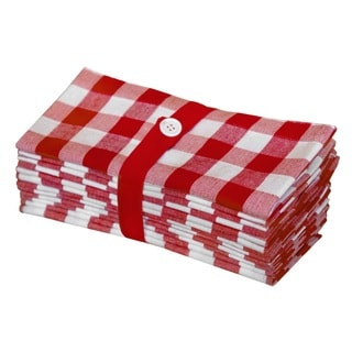 Celebration Checked 12-piece Dinner Napkin Set