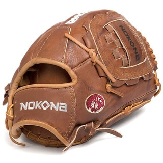 Nokona W-1200C/R Walnut 12-inch Baseball Glove with Closed Web for Left Handed Thrower