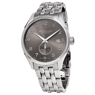 Hamilton Men's H42515185 'JazzMaster' Grey Dial Stainless Steel Maestro Small Seconds Automatic Watch