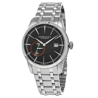 Hamilton Men's H40515131 'American Classic' Black Dial Stainless Steel Railroad Small Seconds Swiss Automatic Watch