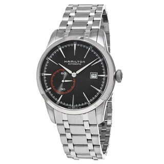 Hamilton Men's H40515131 'American Classic' Black Dial Stainless Steel Railroad Small Seconds Swiss