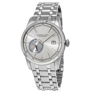 Hamilton Men's H40515181 'Timeless Classic' Silver Dial Stainless Steel Railroad Small Seconds Swiss Automatic Watch