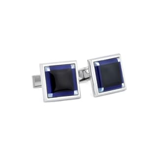 Blue Black Cufflinks