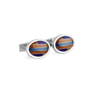 Oval Cats Eye Cuff Links