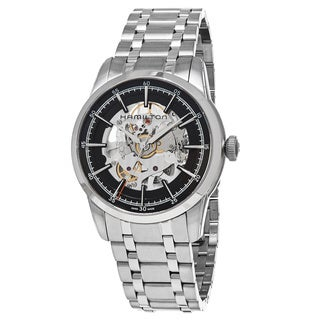Hamilton Men's H40655131 'American Classic' Skeleton Dial Stainless Steel Railroad Swiss Automatic Watch