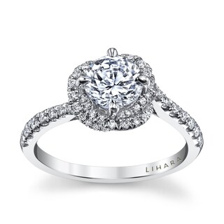 Lihara and Co. 18k White Gold 2/5ct TDW Semi-mount Diamond Engagement Ring (5 options available)