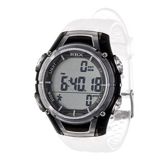 RBX White Multi-Function Activity Tracker Pedometer Digital Watch