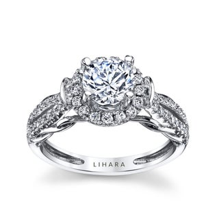 Lihara and Co. 18k White Gold 1/2ct TDW Semi-mount Diamond Engagement Ring - White G-H (5 options available)