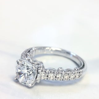 Lihara and Co. 18k White Gold 1/3ct TDW Semi-mount Diamond Engagement Ring (G-H, VS1-VS2)