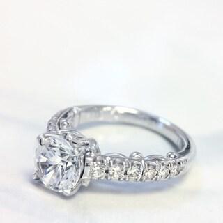 Lihara and Co. 18k White Gold 1/3ct TDW Semi-mount Diamond Engagement Ring (G-H, VS1-VS2) - White G-H
