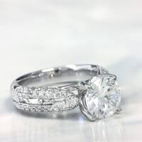 Lihara and Co. 18k White Gold 3/4ct TDW Semi-mount Diamond Engagement Ring