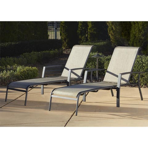 Cosco Outdoor Aluminum Chaise Lounge Chair (Set of 2) - N/A