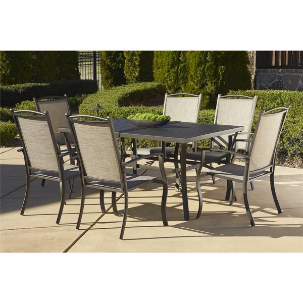 cosco outdoor 7 piece aluminum patio dining set 18527176 overstock