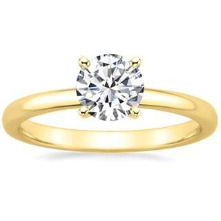 14k Gold 2/5ct TDW GIA Certified Round-cut Diamond Engagement Ring (H, VVS2)