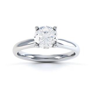 14k Gold 1/2ct TDW GIA Certified Round-cut Diamond Engagement Ring (H, SI1) - White