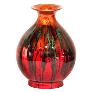 round water jar glazed ceramic vase by Heather Ann