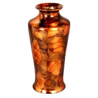 Round Tapered Glazed Ceramic Vase by Heather Ann