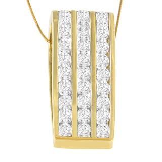 14k Yellow Gold 2 7/8ct TDW Round Diamond Pendant (I-J, I1-I2)