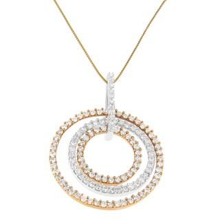 Two-tone 14k Gold 1ct TDW Round Diamond Pendant (H-I, SI2-I1)