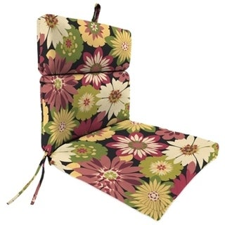 Jordan Manufacturing Spun Polyester Orlato Blackberry French Edge Chair Cushion