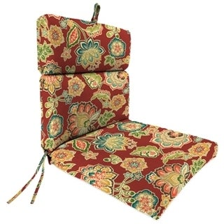 Jordan Manufacturing Spun Polyester Dejana Sangria French Edge Chair Cushion