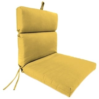 Jordan Manufacturing French Edge Chair Cushion in Spectrum Daffodil
