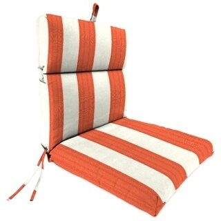 Jordan Manufacturing French Edge Chair Cushion in Cabana Flame
