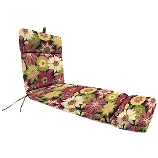 Jordan Manufacturing Spun Polyester Orlato Blackberry Chaise Lounge Cushion