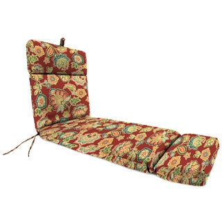 Jordan Manufacturing Chaise Lounge Cushion in Dejana Sangria