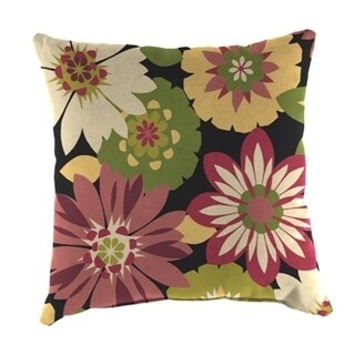 Jordan Manufacturing Spun Polyester Orlato Blackberry Wicker Pillow